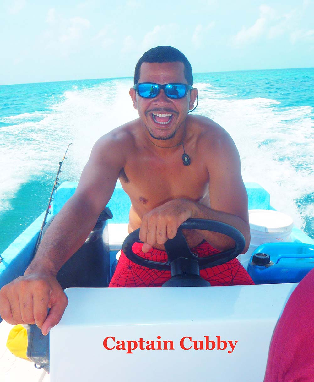Captain Cubby of Placencia Adventures by land or sea